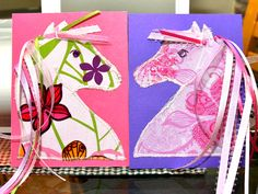 horse birthday party-cute craft idea -- I could use it for her bed curtain too! Horse Birthday Parties, Cowgirl Birthday, Cowgirl Party, Birthday Crafts, Birthday Party Themes, Twin First Birthday, Horse Party, Horse Crafts, Pony Party