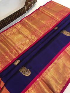 Blue Silk Saree, Kanjivaram Sarees Silk, Tussar Silk Saree, Soft Silk Sarees, South Indian Wedding Saree, Indian Bridal Sarees, Wedding Silk Saree, Lakshmi Sarees, Wedding Saree Collection