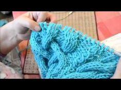 Вязание для начинающих  шарф-хомут часть 1