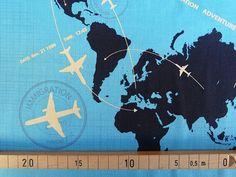 Designerstoffe USA - Stoff Riley Blake Weltkarte - ein Designerstück von 1000stoff bei DaWanda