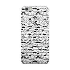 Mustache Matrix iPhone case