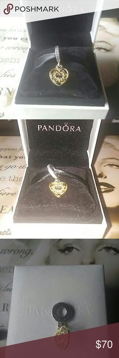 PANDORA MAGNIFICENT HEART CLEAR CZ Pandora Magnificent Heart Clear Cz. Charm/pendant. Pandora item# 791742CZ.  This kills me to have to let go of. The price listed comes with the box. If you do not want the box, OFFER $65. I will Accept & you will receive Charm Only. 100% AUTHENTIC! PANDORA Jewelry