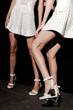 Alexander Wang S/S 2015 -- white dress & sandals #style #fashion #shoes