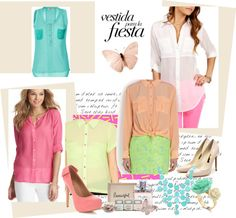 """pastel world"" by ninacorrales on Polyvore"