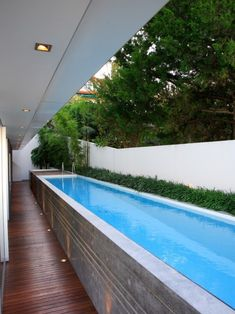 Simple Above Ground Lap Pool Design.
