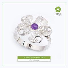 a1aec8c13a32 Puñera - Brazalete Sun Flower Love - Joyeria Economica Online para comprar  Joyas de Plata 925