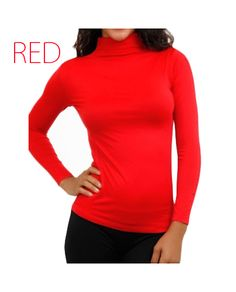 Red Stretch Turtleneck, $24.95 by Boutique LeRaven