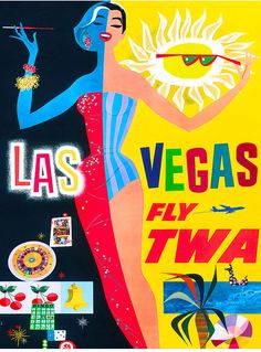 Put the Las Vegas Strip on your wall. This Las Vegas vintage travel poster was in circulation circa Las Vegas -- Fly TWA. Retro Airline, Airline Travel, Travel And Tourism, Travel Agency, Vintage Airline, Travel Destinations, Travel Guide, Travel Vegas, Air Travel