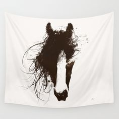 Colt Wall Tapestry by Allison Reich | Society6