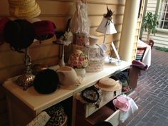Guests were invited to wear a hat for Tea time. Tea Party Bridal Shower. Southern Event Planners, Memphis, TN