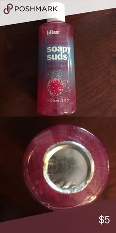Bliss Raspberry Champagne Soapy Suds Bliss Raspberry Champagne Soapy Suds Body Wash + Bubbling Bath.  New unused. 4 fl oz.  smoke free home.  Will combine shipping, please bundle when shopping. Bliss Other
