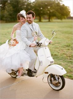 Love the idea of capturing something special to your relationship on your wedding day - maybe a shot of the bride and groom on a bicycle/motorcycle/scooter?