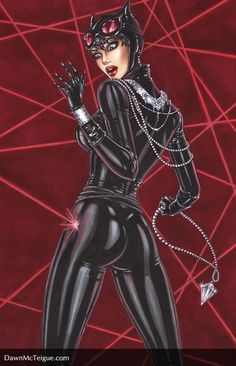 Art books and prints by Dawn McTeigue, a comic book artist from Calgary, Canada. Batwoman, Batgirl, Catwoman Comic, Harley Quinn, Comic Book Artists, Comic Books, Detective, Catwoman Selina Kyle, Copic Sketch Markers