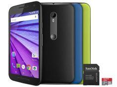 Smartphone Motorola Moto G 3° Geração Colors HDTV - Preto 16GB Dual Chip 4G Câm. 13MP + Cartão 16GB com as melhores condições você encontra no Magazine Promocaoprime. Confira!