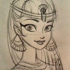 female ancient egyptian sketch - Google Search
