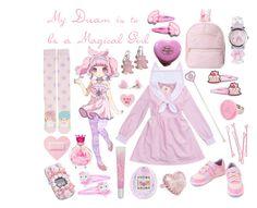 """My Dream is to be a Magical Girl"" by melodyfire ❤ liked on Polyvore featuring Betsey Johnson, KOKOKim, BOBBY, Tarina Tarantino and Hello Kitty"