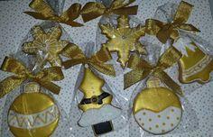 Galletas doradas navidad