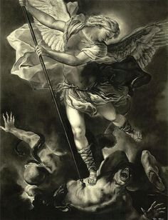 St. Michael Vanquishing the Devil Greeting Card for Sale by Tyler ...