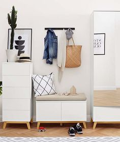 Helytakarékos bútorok - Rendelje meg most online a Tchibo-nál! Hallway Inspiration, Scandi Style, Wardrobe Rack, Entryway, Hallways, Furniture, Design, Home Decor, Sideboard