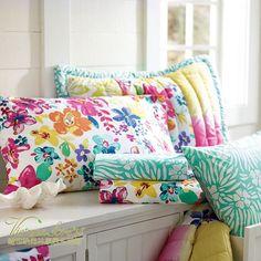 toabao colourful pillow cases 美国PB T**N※热带风情植物花卉活性印花床笠/床罩 2色 纯棉1.8米-淘宝网