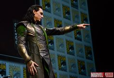 SDCC 2013: Tom Hiddleston as Loki at the Hall H Panel  Photo by Judy Stephens