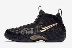 97279ea073e37f Nike s Air Foamposite Pro Returns in Black and Gold Black And Gold Jordans