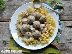 Let your Crock Pot do the work for this simple Slow Cooker Meatball Stroganoff, which only requires about 10 minutes of prep time.