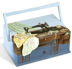 Sewing box hand-painted | Nähkasten handbemalt