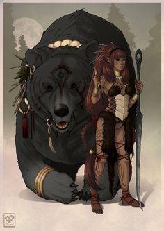Bear Girl by dathron on deviantART
