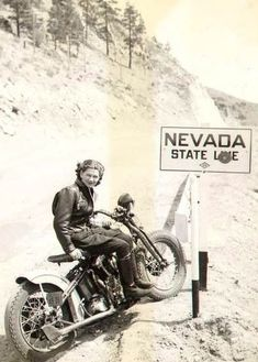 Nevada, home of wide open spaces, for fast driving ... and Las Vegas, for fast everything else! #harleydavidsonroadkinggirls