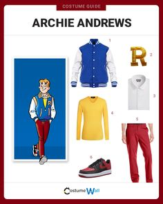 Get dressed to jump into the comics as Archie Andrews, the happy-go-lucky freckled-face boy who LOVES girls.
