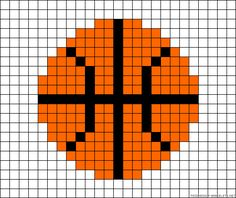 Basketball perler bead pattern