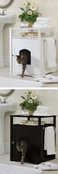 concealed litter box - this is actually pretty!