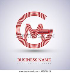 Letter GM or MG linked logo design circle G shape. Elegant red colored letter symbol. Vector logo design template elements for company identity. - stock vector
