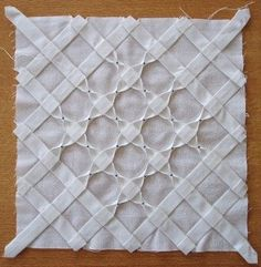 "This is a quilt block with ""folds."" Could be incorporated into almost anything.:"