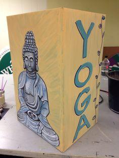 Yoga mat Buddha box by Elissa Surabian