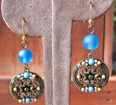Beautiful Womens Drop Earrings with shades by GoddessGemsDesigns, $18.00