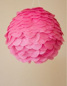 scallop paper lamp #DIY
