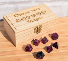 Hey, I found this really awesome Etsy listing at https://www.etsy.com/listing/400919639/medium-dice-box-rpg-dice-box-pathfinder
