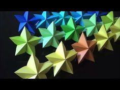 (折り紙)七夕飾り スターの作り方【DIY】(Origami) How to make Tanabata Decorating Star Origami Stars, Diy Origami, Tanabata, Cube, Paper Crafts, Toys, Decorating, How To Make, Inspire