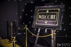 VIP Entrance Sign (SGN67) to hire.  This ornately decorated sign is the perfect prop to hire for welcoming your guests in style to you themed event.  The frame sits on a freestanding A-Frame easel.