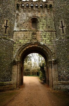 Medieval castle gateway, Bennington, Hertfordshire, England