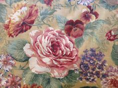 Cottage Floral Cotton Chintz Fabric by Joan Kessler for Concord Fabrics