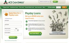I Need a Payday Loan from a Direct Lender Ace Cash Express