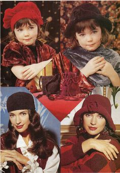 Ladies Knitting Pattern ladies hats girls hats chenille hats & bags 4 years - adult,chenille- womens knitting pattern - PDF instant download