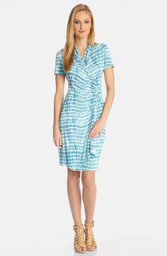 Karen Kane Tie Dye Print Cascade Faux Wrap Dress available at #Nordstrom