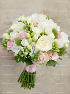 pink-white bouquet of freesias – a fashionable wedding bouquet – Bouquet Of Sunflowers Small Wedding Bouquets, Spring Wedding Flowers, Bride Bouquets, Bridal Flowers, Flower Bouquet Wedding, Bridesmaid Bouquet, Floral Bouquets, Floral Wedding, Wedding Colors