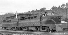 "(DR-4-4-1500).  Pennsylvania R.R.  Baldwin ""Sharknose""  car body.   (ARR) B-B.  1500 H.P.. Built 1949-50."