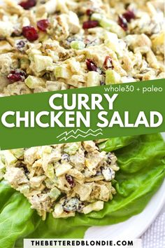 Easy Whole 30 Recipes, Paleo Whole 30, Amazing Recipes, Chicken Salad With Grapes, Chicken Curry Salad, Salad Recipes Healthy Lunch, Healthy Gluten Free Recipes, Everyday Food, Healthy Chicken Recipes