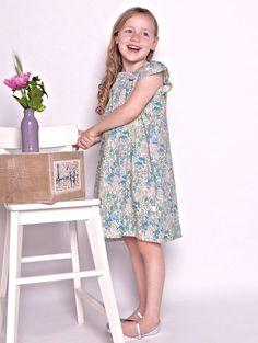 Eloise Dress - Blue Wildflowers - Florafina